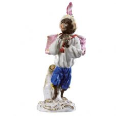 Meissen Monkey Band - Figurine of a Kettle Drum Carrier